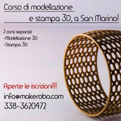fotonewsCORSI Makeroba modellazione e stampa 3D